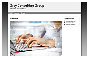 consulting group website example